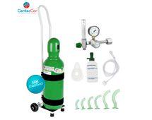 Kit-Oxigenio-7-Litros-Aco-com-Carrinho-sem-carga-centercor-hospitalar-venda-de-produtos-hospitalares