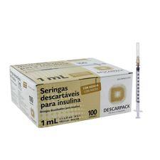 Seringa-de-Insulina-Descarpack-1-ml-com-Agulha-Caixa-com-100-Unidades