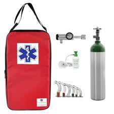 Kit-Oxigenio-3L-Aluminio-com-Bolsa-Vermelha-Sem-Carga-Valvula-Click