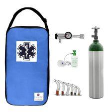 Kit-Oxigenio-3L-Aluminio-com-Bolsa-Royal-Sem-Carga-Valvula-Click